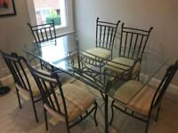 6x seater table and chairs