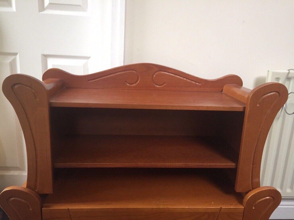 solid wood nursery furniture. tutti bambini marie walnut solid wood nursery furniture shelf u0026 toybox