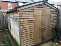 Wooden shed insulated with full electrics