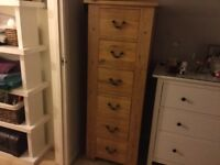 Solid Oak Tallboy Chest of Drawers