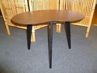 Vintage Three legged Wooden Kidney Shaped Table / Restored.