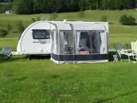 BRADCOT MODUS AWNING FOR A CARAVAN FOR SALE. Used for three seasons condition good