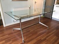 Glass dining table 6/8 seater