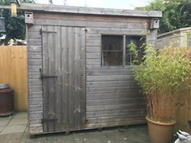 Garden Shed - Single Fixed Window - Re - Felted Roof (Pent)