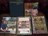 Selection of 5 lovely Gardening / Countyside hardback Books