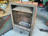 FireMaster integrated steel fireplace insert with guard.