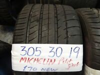 305 30 19 BRAND NEW MICHELIN £70 , BRAND NEW UNIROYAL £70 P/WORN MICHELIN 6MM TREAD £45 SUP & FITD
