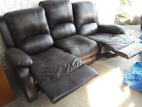 3 seater sofa recliner soft leather