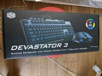 Brand new gamer keyboard and mouse