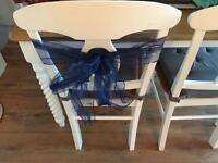 Chair sashes navy