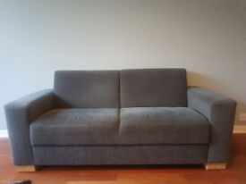 John Lewis Grey 2 seat Couch / Sofa. 2 of.
