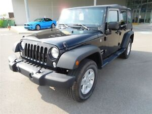 2016 Jeep WRANGLER UNLIMITED SPORT, AIR CLIMATISE, 4X4, MAGS, RI