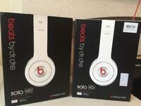 2 x Beats by Dre SOLO HD headphones Brand New Genuine