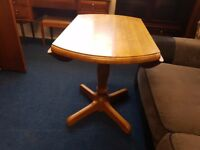 Solid Pine Round Drop Leaf Dining Table