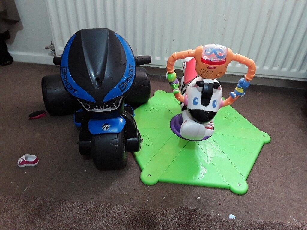 Horse spin and bounce and motorbike changeable need charger | in Highgate,  West Midlands | Gumtree