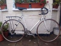 Fast and lightweight White Peugeot Racer/Road bike