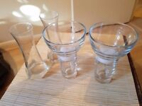 Vases/ glass candle holders