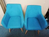 Modern Contemporary Kingfisher Blue Seats