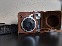Fujifilm Instax Mini 90 NEO Classic Camera - Black w/ real leather case