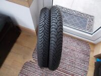 Metzeler ME22 tyres - Brand New. 2.75 x 18 and 3.00 x 18. Suit 125cc bike