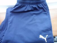 Puma Navy Jogging Bottoms size XL ***** Never been worn, as new condition *****