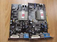 2x Sapphire ATI Radeon 9250's - 128MB PCI DVI VGA TVO