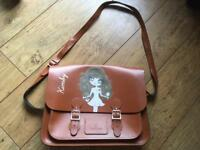 ClaireaBella brown leather satchel bag