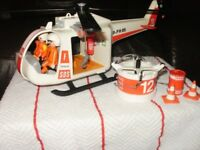 2 x playmobile helicopters