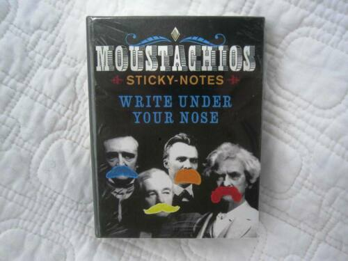 Moustachios Sticky-Notes- Fun for School, Office, Dad- Unemployed Philosophers