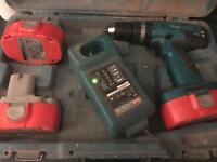 Makita Cordless Drill, charger and 3 batteries (PLEASE READ DESCRIPTION)