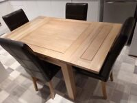Oak Furniture Land Dining Table & Chairs