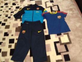 Boys Nike Barcelona tracksuit + T shirt