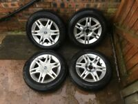 fiat punto 14 inch 4 stud alloy wheels 165 70 14