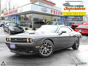 2016 Dodge Challenger R/T***Manual, red leather, NAV***