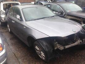 Breaking for parts 2008 facelift BMW 1 series grey colour doors bonnet bumpers tailgate