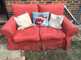 FREE * 2 seater terracotta sofa