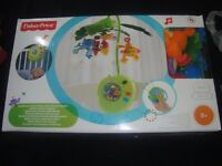 USED FISHER PRICE RAINBOW FOREST MUSICAL MOBILE