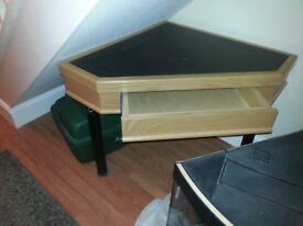 Reduced for quick sale Corner table with drawer
