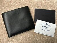 Mens Black Prada Leather Wallet