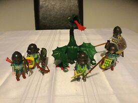 Playmobile soliders with dragon b6