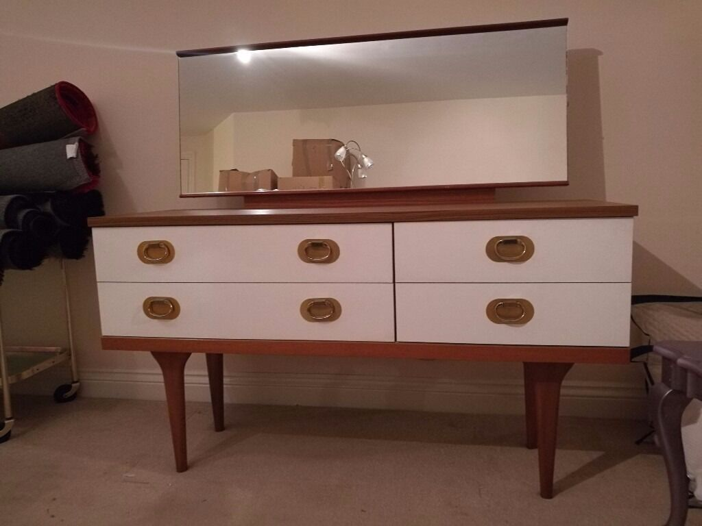 Outstanding chest of drawers with large mirrorin Exeter, DevonGumtree - Beautiful chest of drawers with large mirror. Retro style. Collection only from Exeter city centre