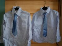 Boys Next Signature Blue shirt and tie age 4 and age 7