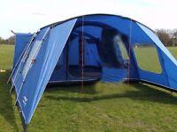 Vango Amazon 600 TENT (sleeps 6, 3 x Dbl Bedrooms)
