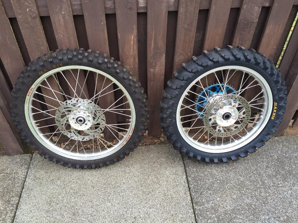 Yamaha yzf Talon wheels with Excel Rims complete with tyres discs & sprocket