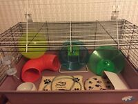 [Brilliant Condition] Large small animals cage PLUS Wheels, Heat Mats, Tunnel, Hamster Ball etc.