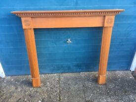 Wood fireplace surround set