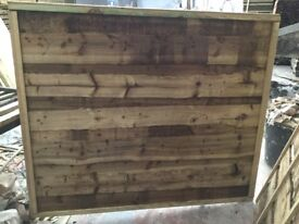 Waneylap fence panels 8mm boards pressure treated