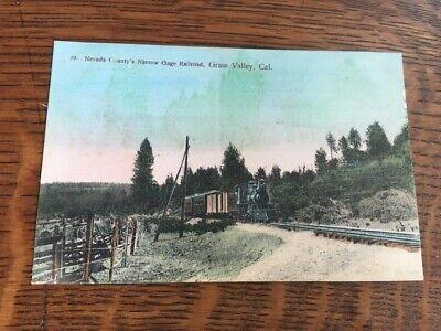 "Real Photo P/card ""Nevada County's Narrow Gauge Railroad Grass Valley"" CA USA"