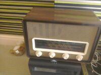 Antique valve radio