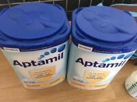 2 unopened tubs aptamil formula